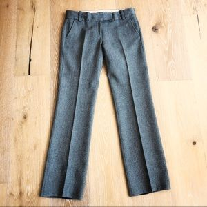 J Crew brown wool herringbone trousers